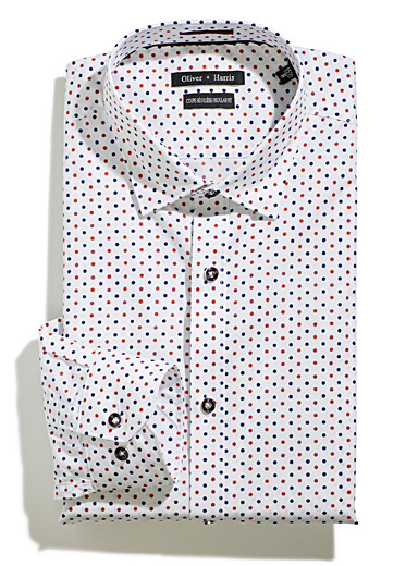 Tricolour dotted shirt <br>Regular fit