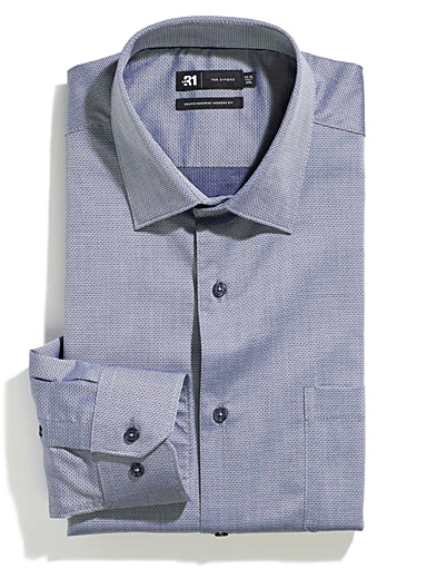 Micro-diamond jacquard shirt  Modern fit