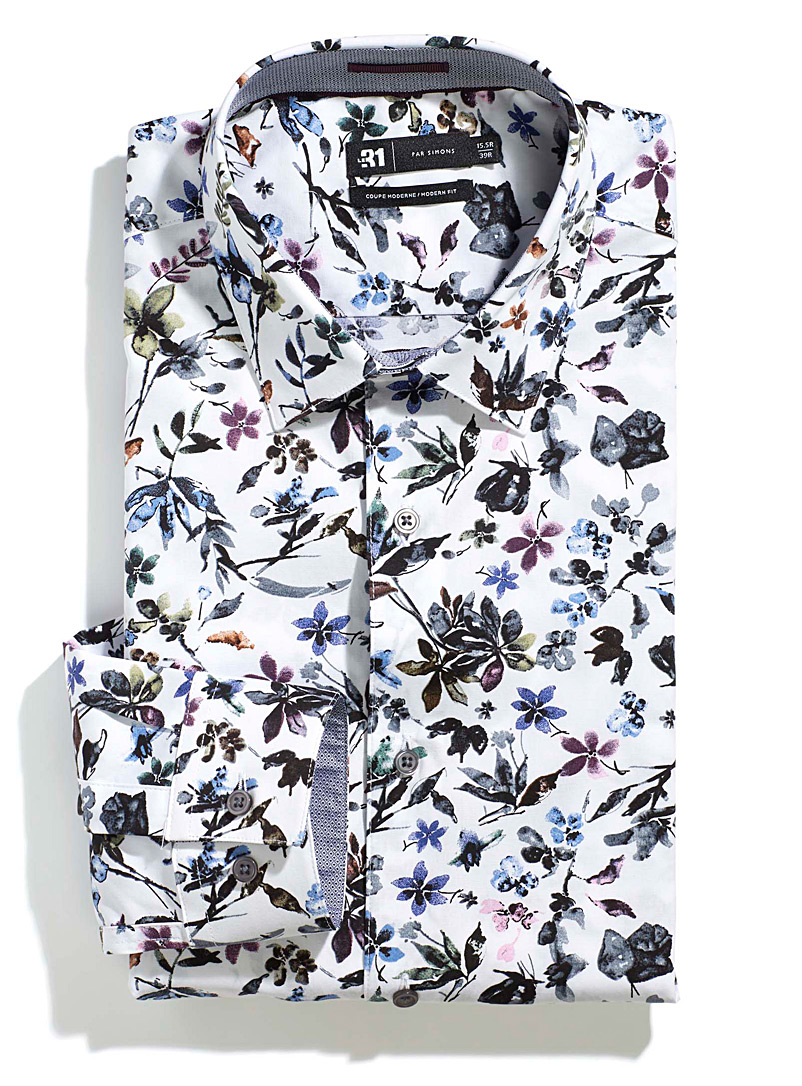 Painterly floral shirt  Modern fit