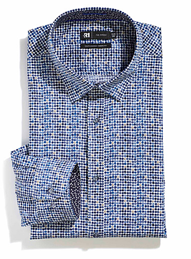 La chemise pois outremer  Coupe moderne