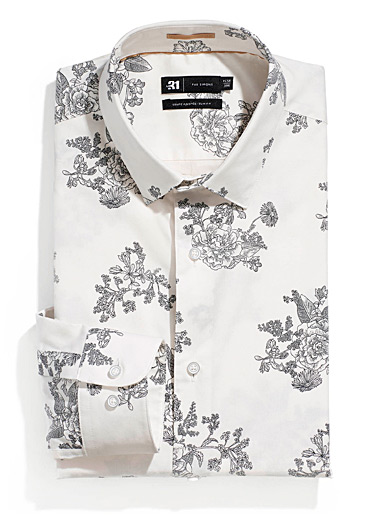 Traced bouquet shirt <br>Slim fit