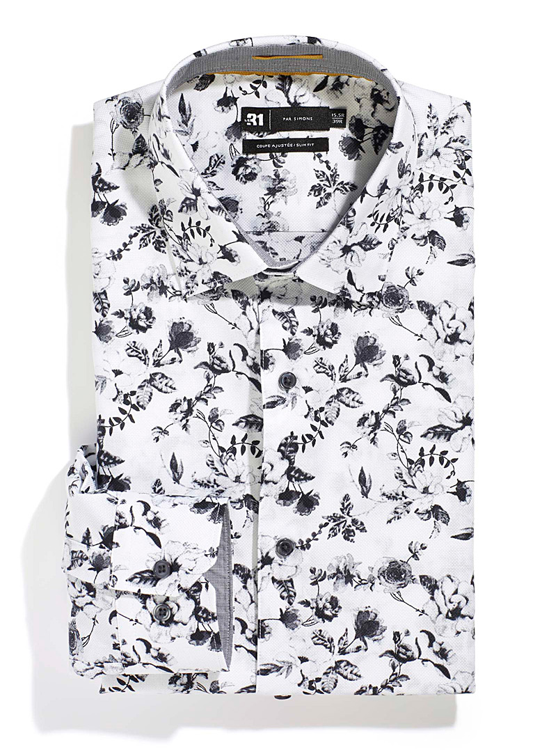 Winter floral shirt  Slim fit