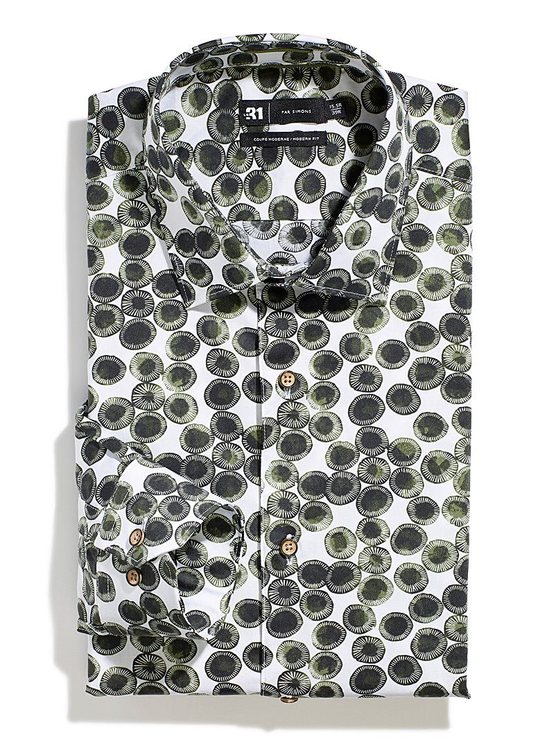 Natural dot shirt  Modern fit