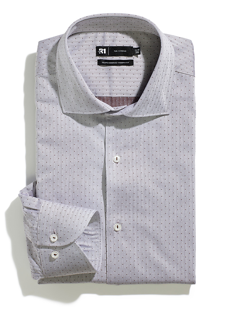 La chemise chevrons micropois  Coupe moderne