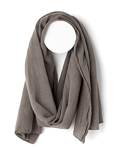 Simons Silver Light knit scarf for women