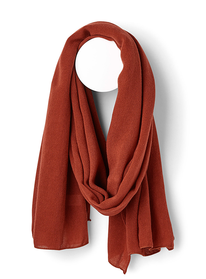 Simons Coral Light knit scarf for women