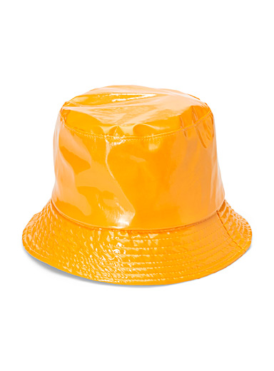 Simons Yellow Solid waterproof bucket hat for women