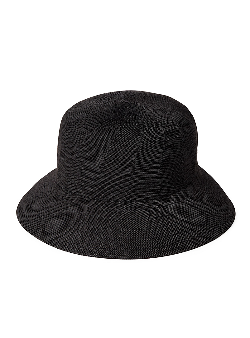 Parkhurst Black Bermuda cloche for women