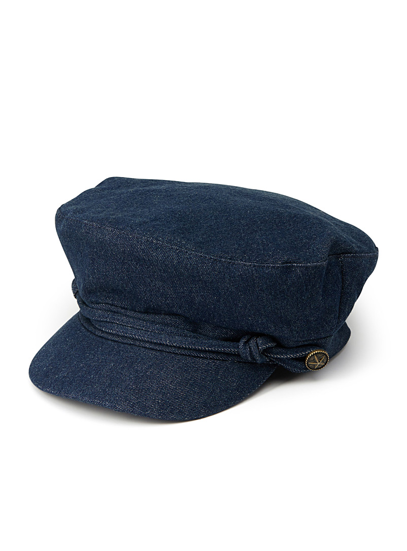 Denim sailor cap - Caps - Marine Blue