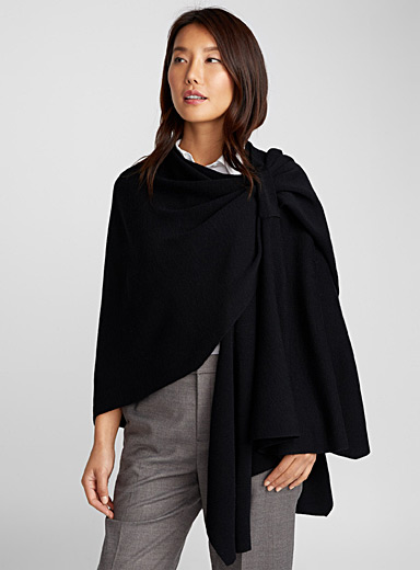 Merino draped shawl