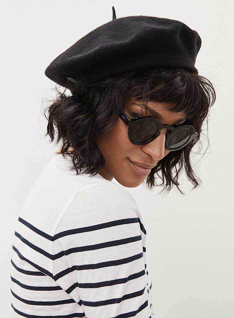 Parkhurst Black Classic beret for women