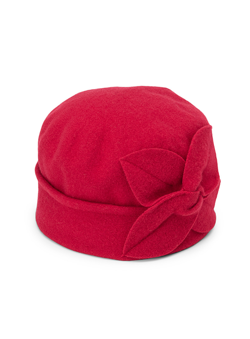 Parkhurst Red Retro cloche for women