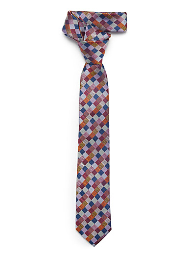 Patchwork check tie