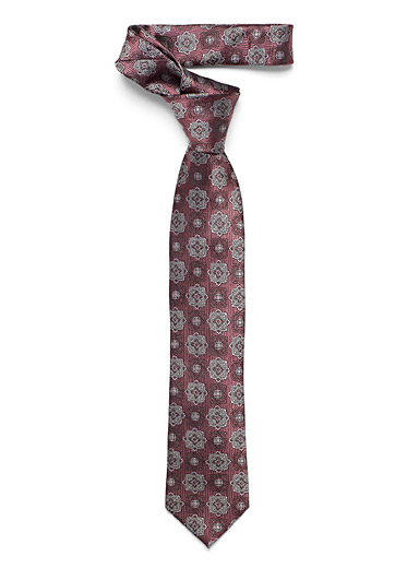 Le 31 Ruby Red Tone-on-tone rosette tie for men