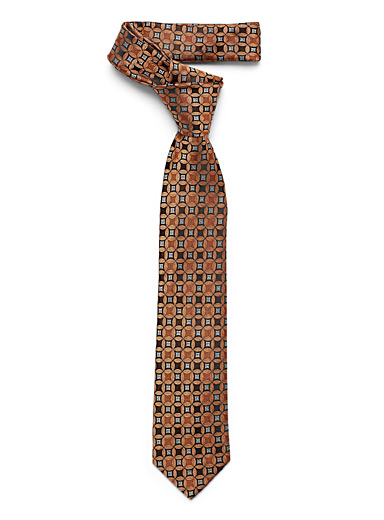 Le 31 Copper Copper mosaic tie for men