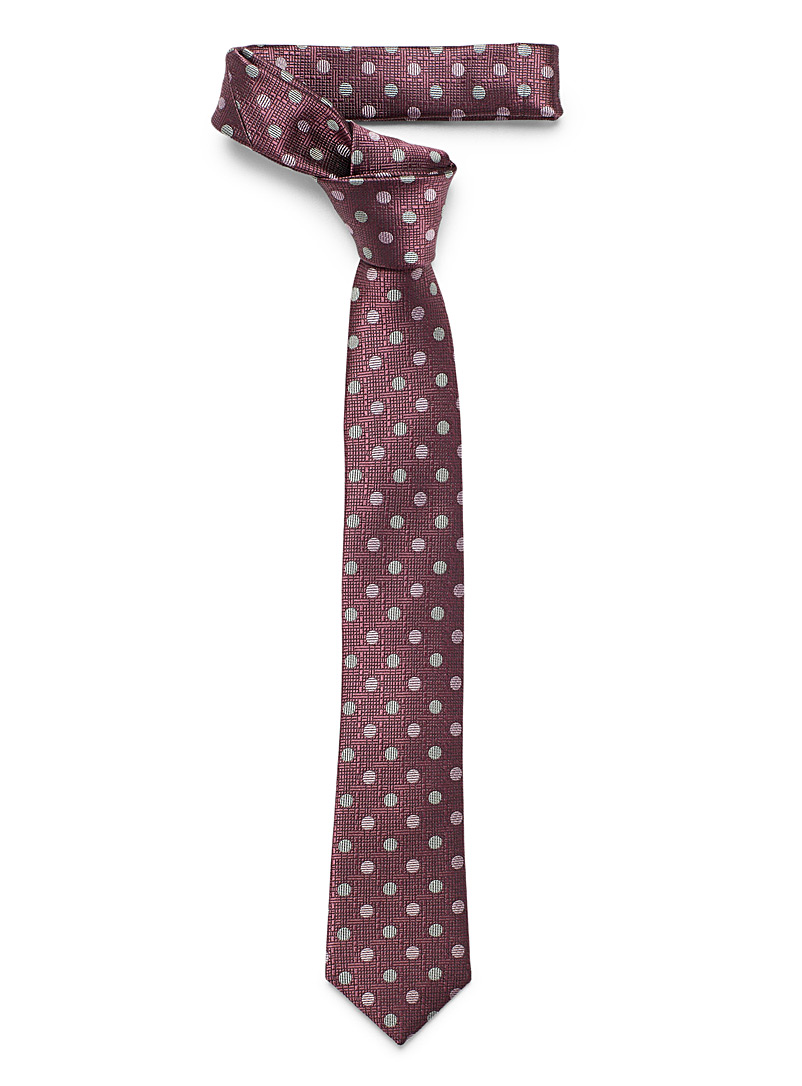 Le 31 Mauve Textured dot tie for men