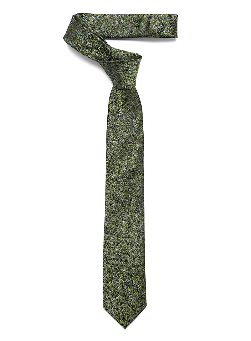 Le 31 Green Metallic heather tie for men