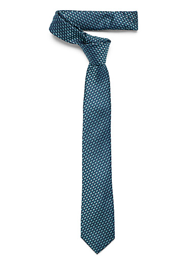 Le 31 Teal Tapered diamond tie for men