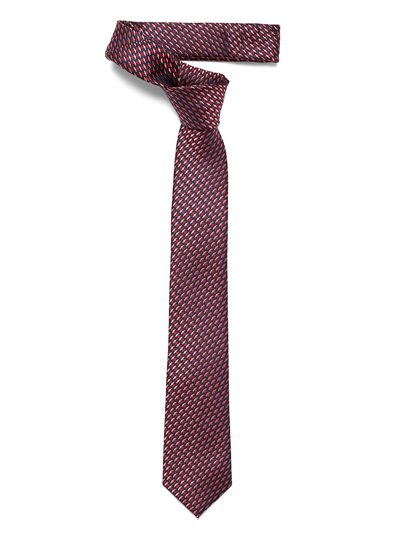 Le 31 Ruby Red Tapered diamond tie for men