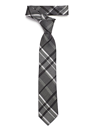 Le 31 Black Dark check tie for men