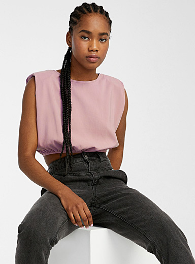 Bubble shoulder blouse