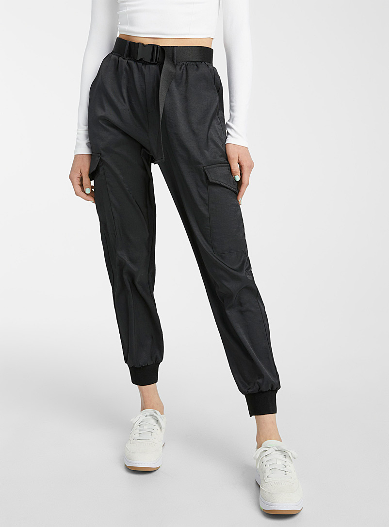 Twik Black Desert cargo joggers for women