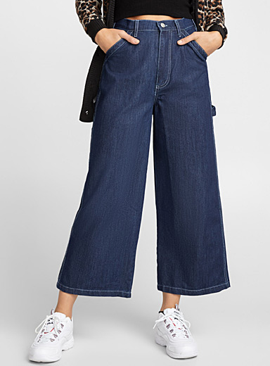 Le jeans ultra-ample coutures contraste