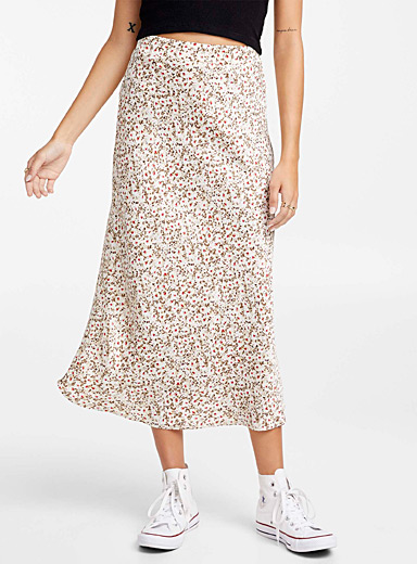 Mini-flower straight skirt