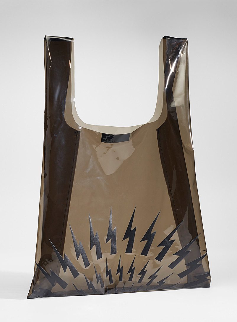 Fair Isle transparent tote