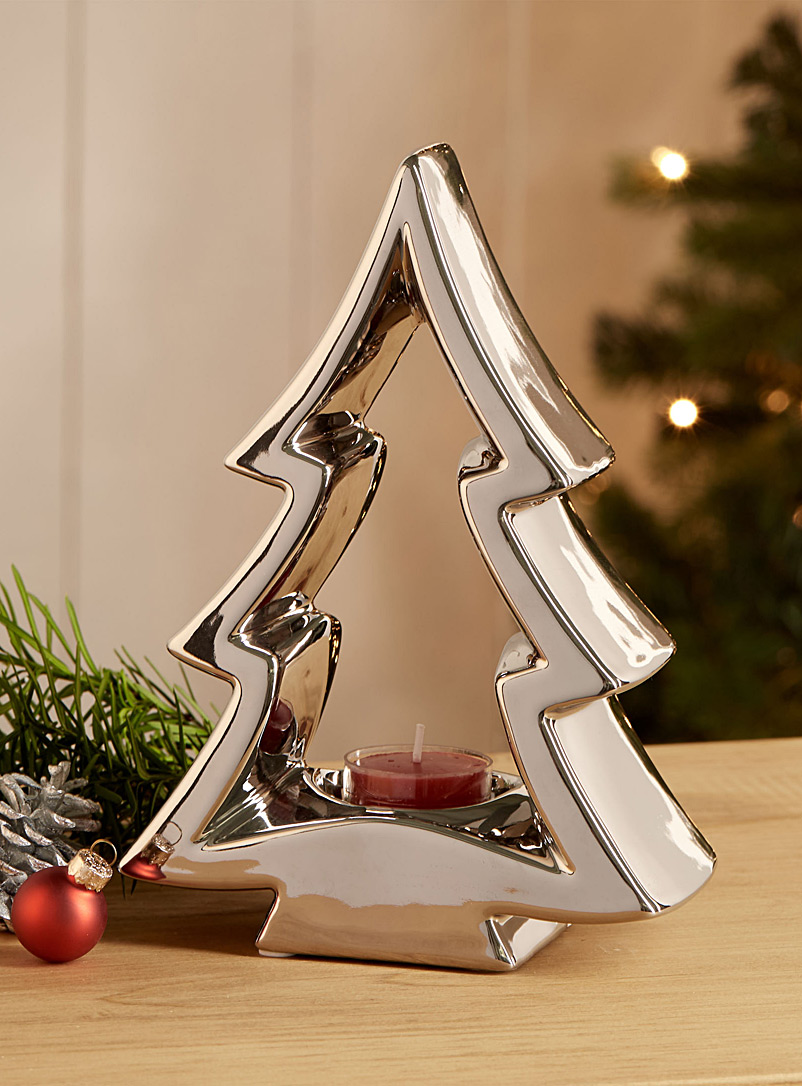 Modern-tree candle holder - Decor - Silver