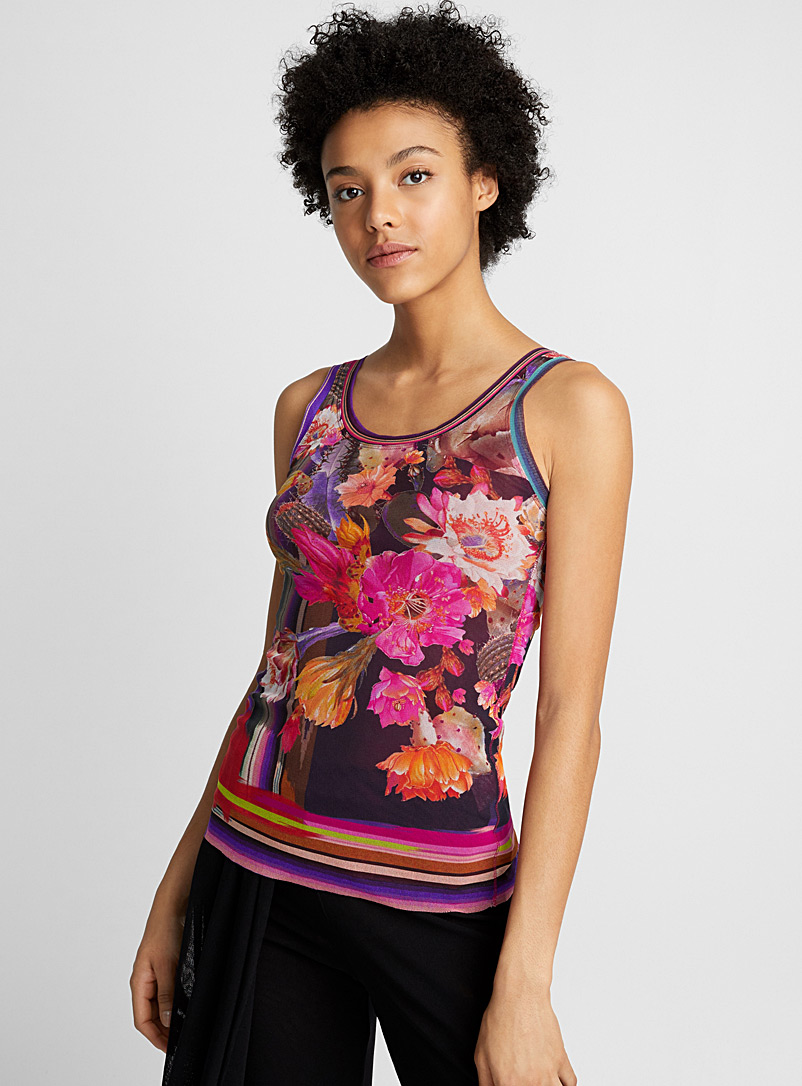 Flowers and stripes tank - Fuzzi - Assorted