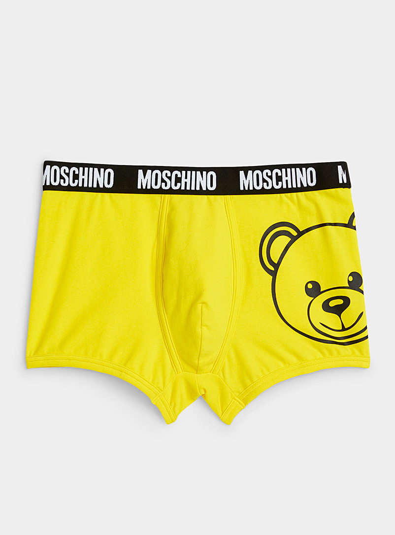 Moschino Bright Yellow Signature bear trunk for men