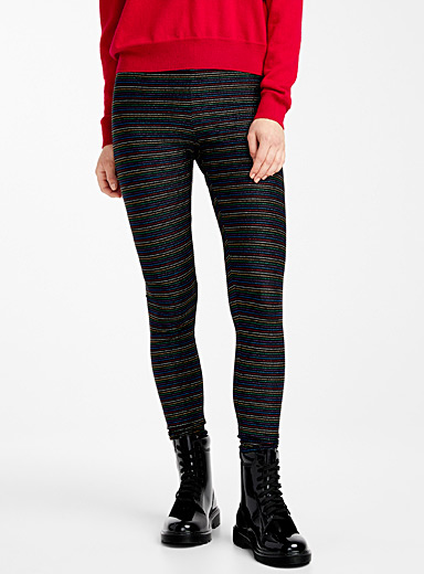 Lurex stripe legging