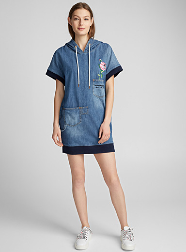 Lucky Peony denim dress