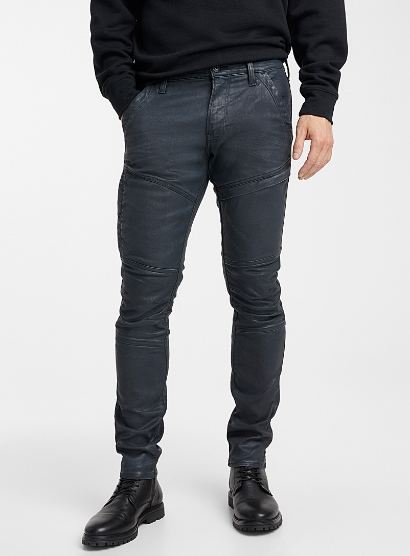 G-Star Raw Slate Blue Rackam 3D coated pant  Skinny fit for men