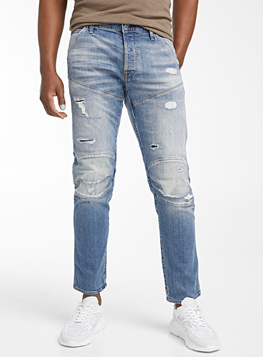 G-Star Raw Blue 5620 3D distressed jean  Slim fit for men
