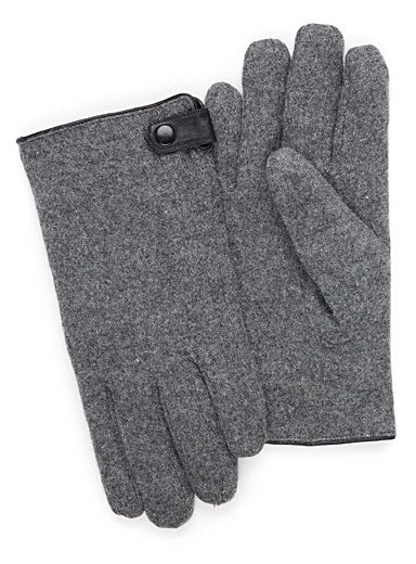 Felt wool gloves