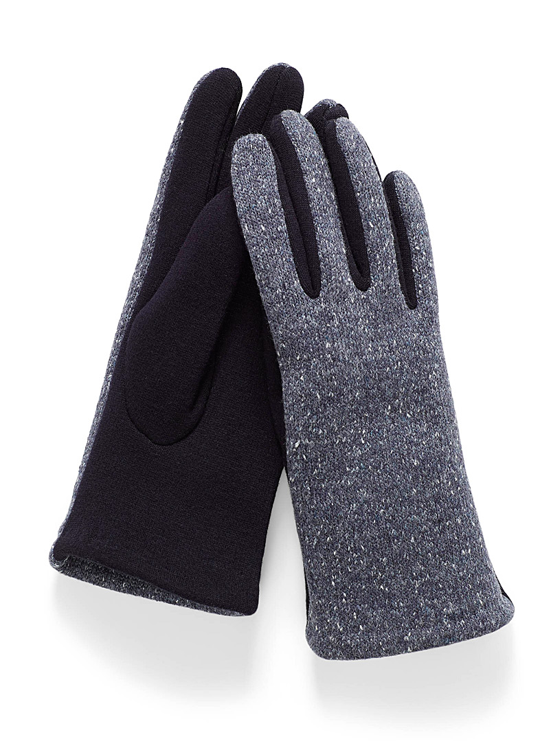 Simons Baby Blue Confetti jersey gloves for women