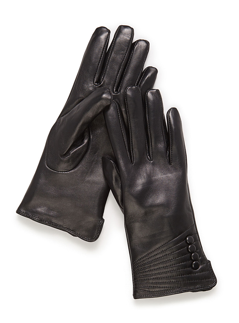 small-button-leather-gloves