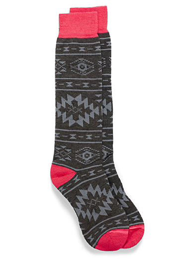 Aztèque jacquard thermal socks