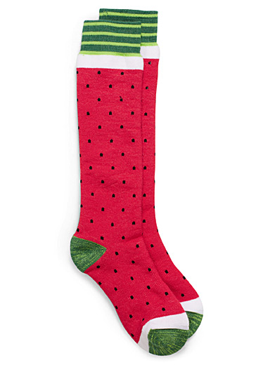 Watermelon thermal socks