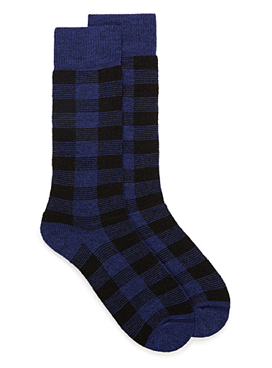Buffalo check thermal socks
