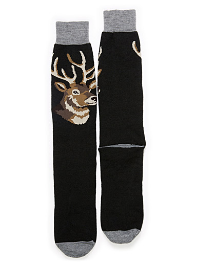 Forest animal thermal socks