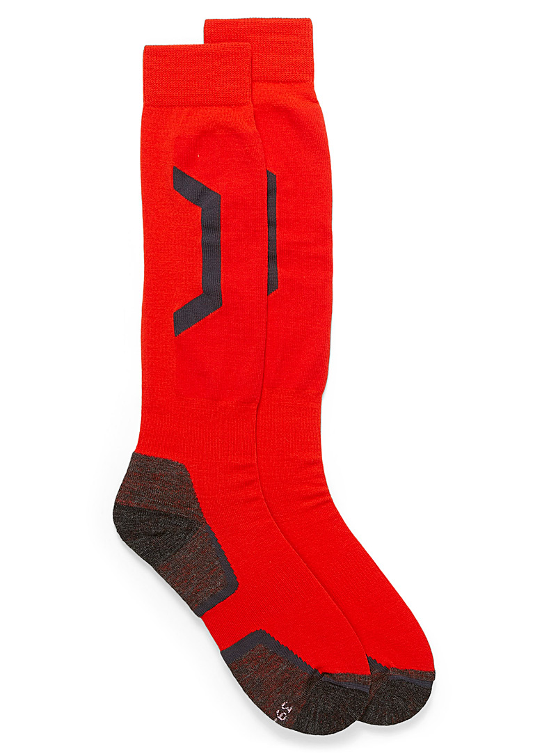 Graphic thermal socks - Socks - Patterned Red