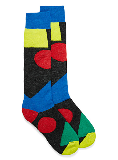 Colourful play block thermal socks