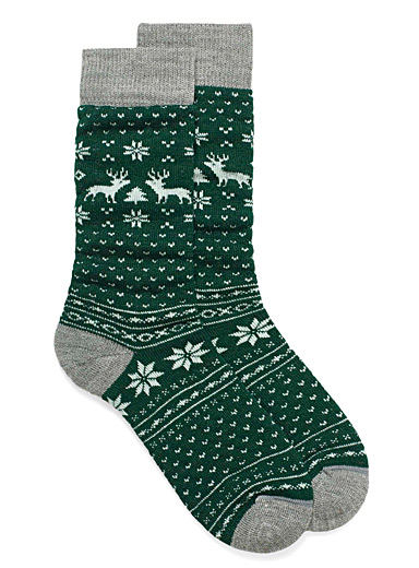 Boreal jacquard thermal socks