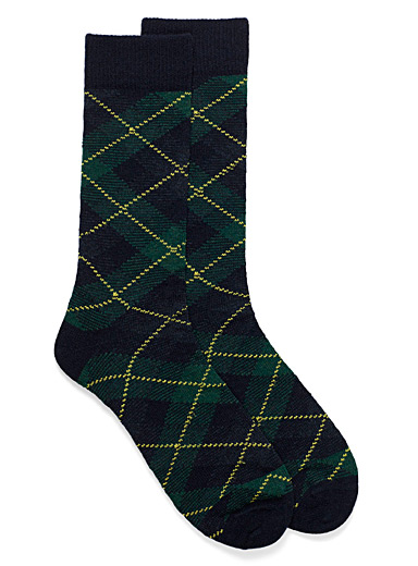 Johnstone tartan lambswool socks