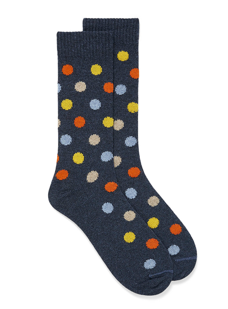 Colourful dotted thermal socks