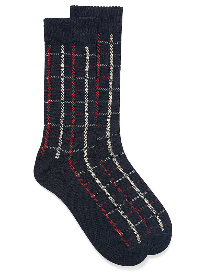 Plaid thermal socks