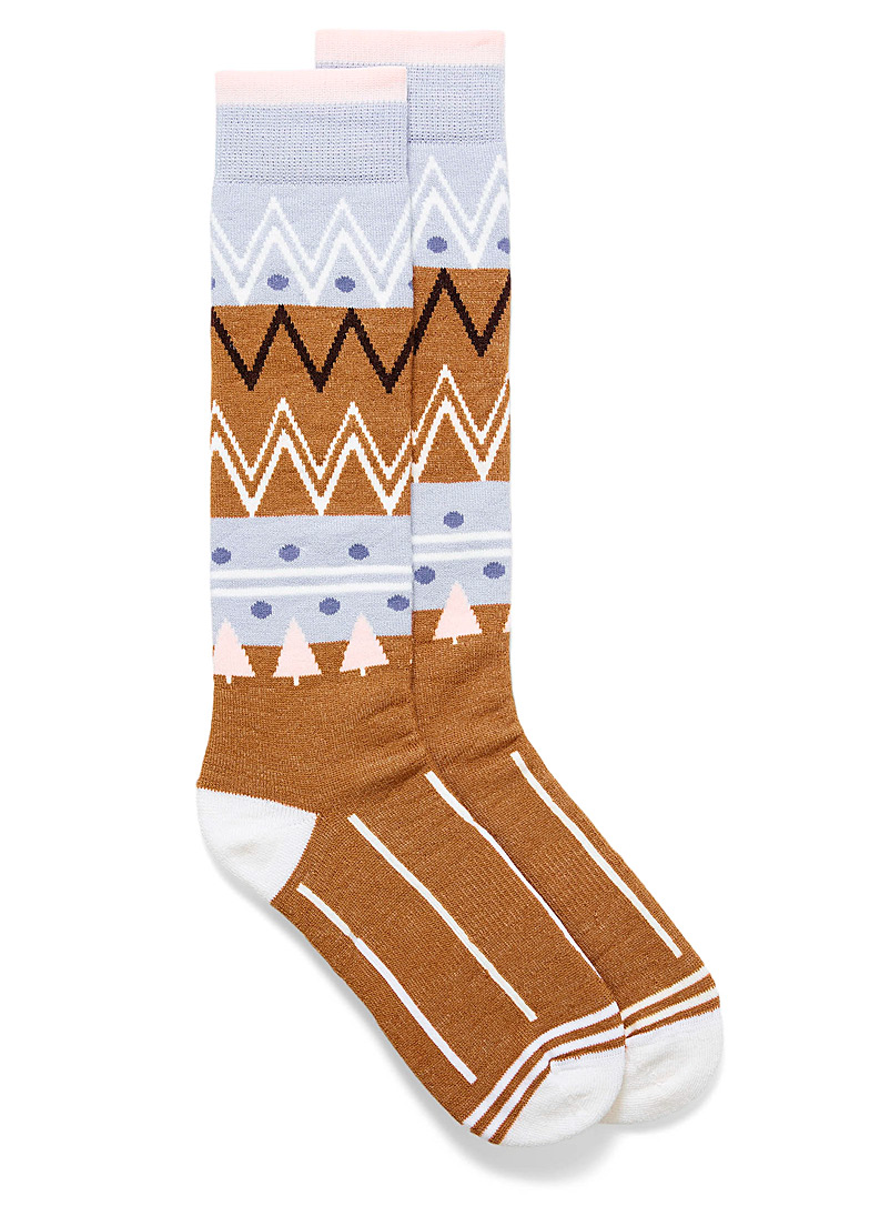Alpine zigzag thermal socks